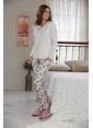 Sevim Kadın Pijama Takımı Bej